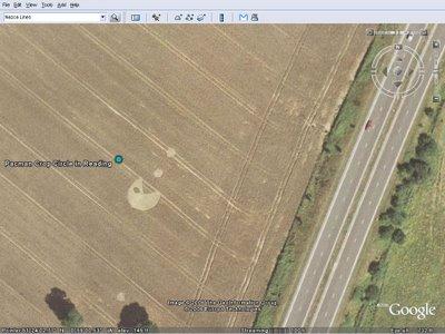 구글어스 Google Earth: 팩맨(PACMAN) 크롭서클(Crop Circle)