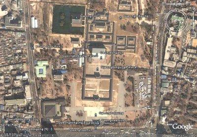 경복궁(Korea Seoul GyeongBokGung-Place) 위성사진: 구글어스