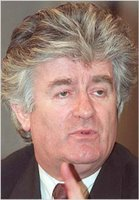 Radovan Karadzic, charged with genocide in relation to Srebrenica massacre. Currently on the run.