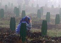 Srebrenica Massacre (7/11 1995) - Srebrenica mother cries on her sons' graveyard