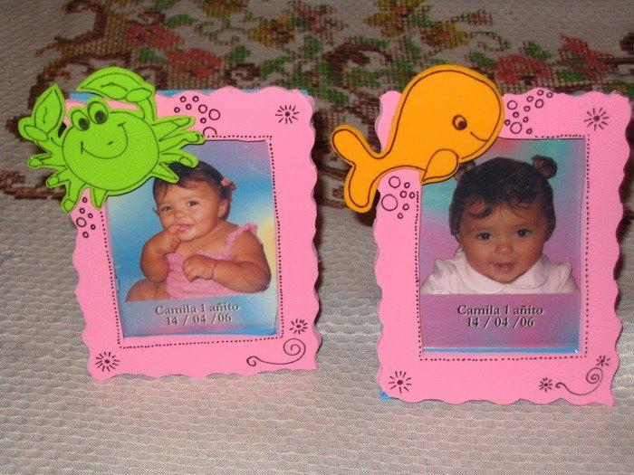 Souvenirs para recien nacidos en goma eva - Imagui