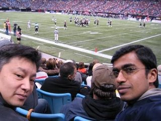 at the BC Lions game