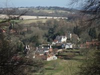 Looking down on Selborne