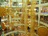 Festive decorations at Suria shopping centre