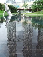 Sculpture in the park at the foot of the Petronas towers
