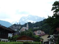 The mountains providing a picturesque backdrop to the town