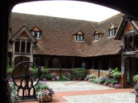 The almshouse 'cloisters' at Ewelme
