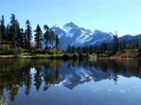 Mt Shuksan across Picture Lake - October 2006