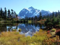 Mt Shuksan across Picture Lake