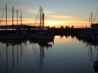Sunset over Bellingham marina
