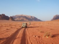 Across the wadi by 4WD
