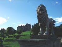 The Northumberland Lion guarding Alnwick Castle