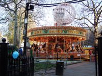 Old style merry-go-round in Leicester Square