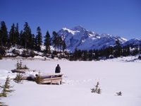 Mt Shuksan across Picture Lake - February 2005