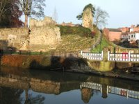 The old Castle walls at Tonbridge