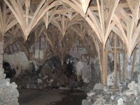 Painshill Park grotto showing timber framework