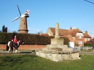 Quainton windmill and preaching cross