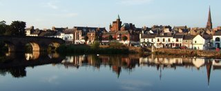 Dumfries from across the river