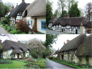 Thatched cottages in Wherwell