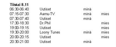 yle1 tv ohjelmat Mantta-Vilppula