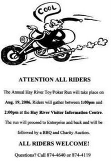 Hay River NWT Toy Run this Weekend!