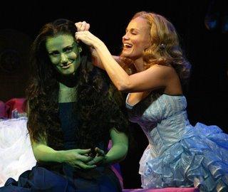 Idina Menzel and Kristin Chenoweth in WICKED