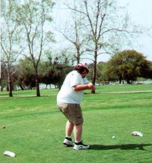 My backswing, and my backside.  Yes, I know I'm fat.