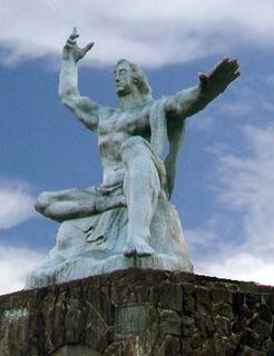 The Nagasaki Peace Park statue.  Photo by me and Photoshop.