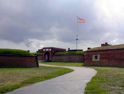 Fort McHenry, September 10, 2001.  The storm clouds roll in.