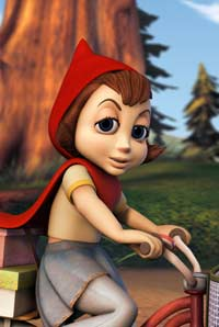 Anne Hathaway as the Voice of Little Red