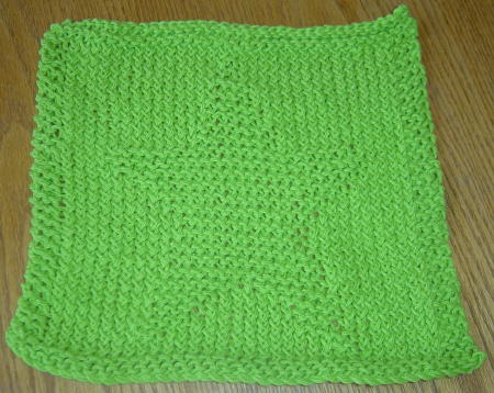 Knitted Dishcloth Pattern With Star : KNITTED STAR PATTERN DISHCLOTH 1000 Free Patterns