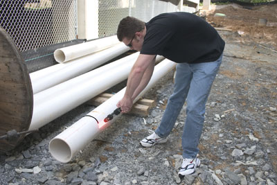 4) to cut thru the PVC pipe & self-proclaimed best blog of the year !!: Laser Technology.....
