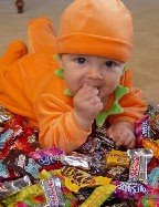 The only thing babies love more than breast milk is Halloween candy.