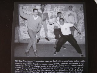 Gorilla Biscuits Tour Single - Inside Cover