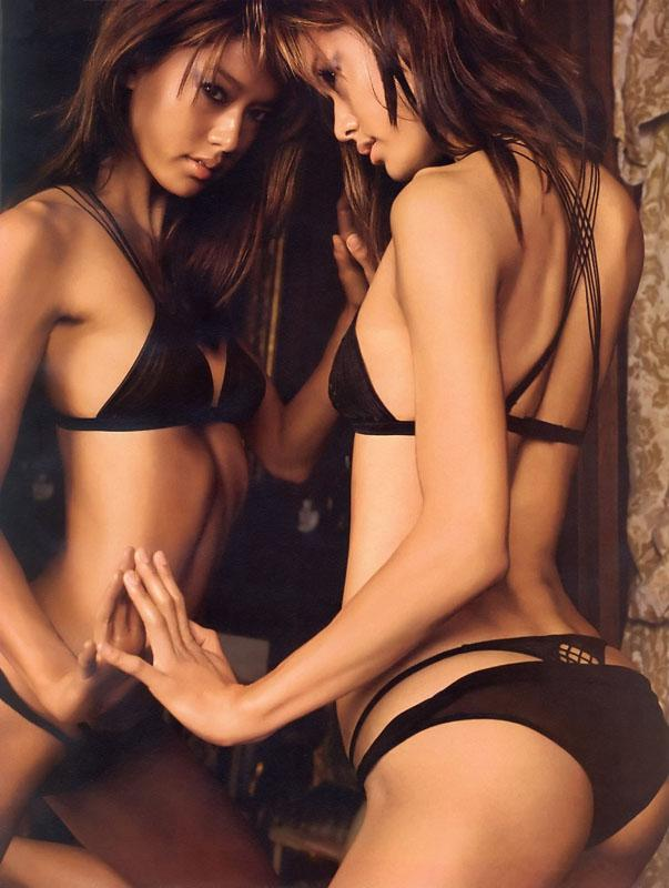 Lesbian in sexy lingerie