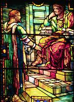 Paul before Agrippa.  Tiffany Studios.  Union Congregational Church, Montclair, NJ.