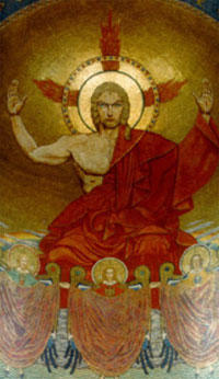 Christ in Majesty, mosaic, Shrine of the Immaculate Conception, Washington, D.C.