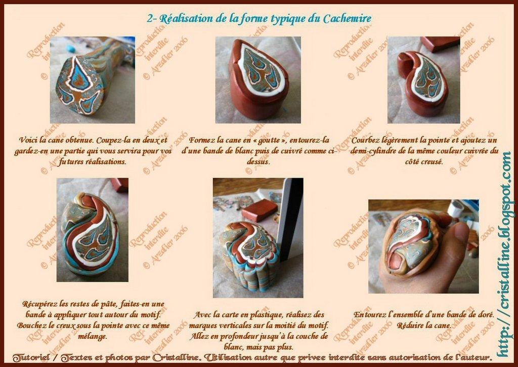 Fabuleux Fimo Cristalline, tuto et bijoux en polymère: Mon tuto Cachemire ! BE33