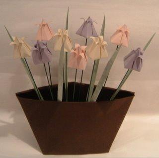 Pastel Origami Tulips