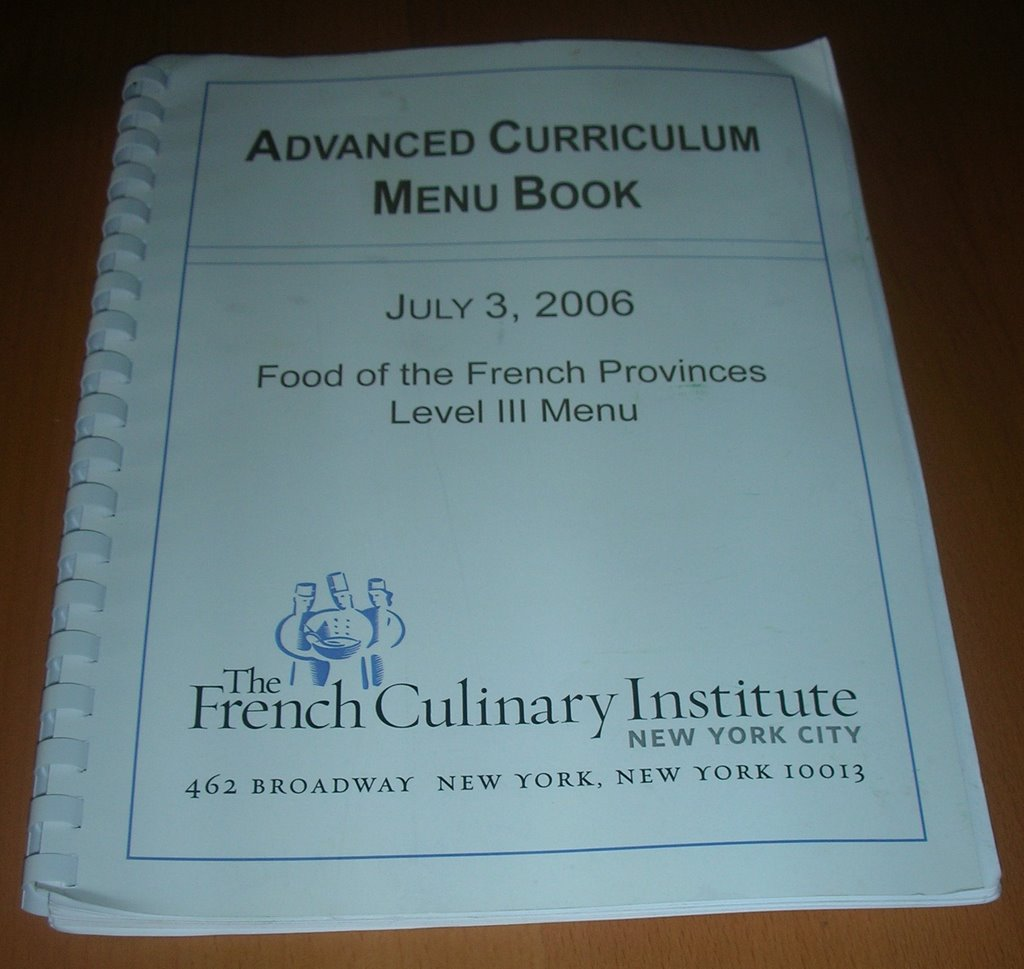 Kitchen Toro: FRENCH CULINARY INSTITUTE RECIPES PAGE