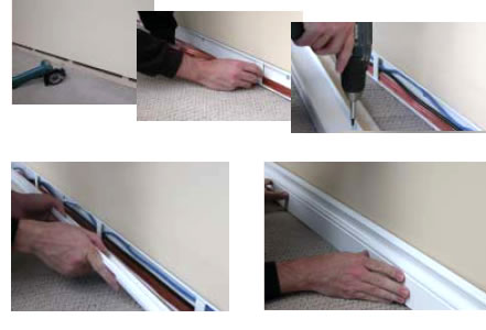 mini trunking hide cables along baseboard infreshhome com rh infreshhome com Skirting Board Profiles hide wires behind skirting board