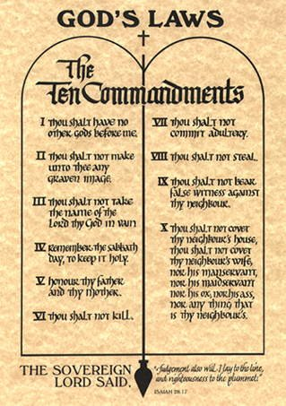 the ten commandments essay God was so good to all people and so he gave moses the laws which will guide the israelites on how they will be able to live in peace and with love his be.