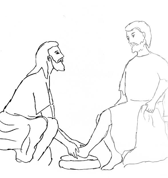 Jesus Helped A Man Walk - Free Colouring Pages
