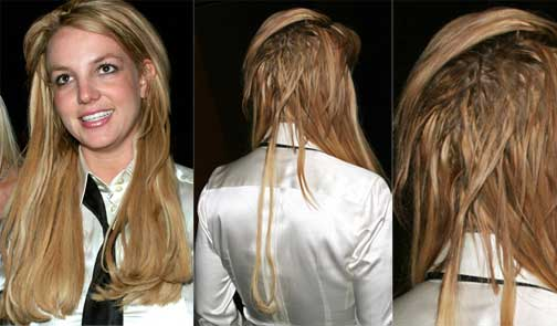 Faking good breeding rant britney spearss post kfed fashion and first it was the hair extensions granted the majority of women in hollywood have extensions but they also have their hairstylist style their hair in pmusecretfo Images