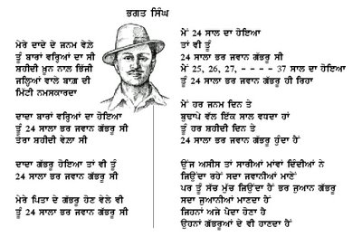essay on bhagat singh in sanskrit Chandra shekhar azad later reorganised the hra with the help of revolutionaries like sheo verma and mahaveer singh [ citation needed ] azad and bhagat singh secretly reorganised the hra as the hsra in september 1928.