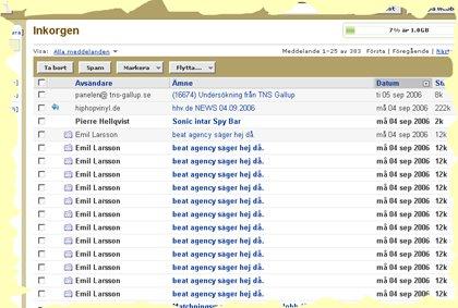 bild från mailbox på måååånga identiska mail