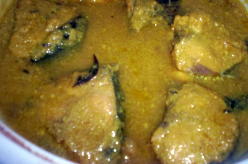 Lima beans and delhi cha a t doi machh fish curry in for Yogurt sauce for fish