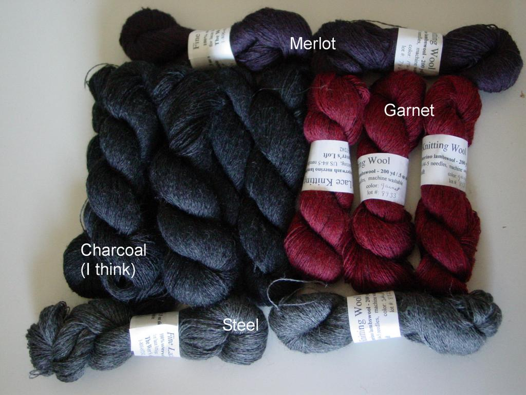 the yarn for the scarves