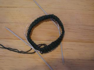 the modest beginnings of a sock