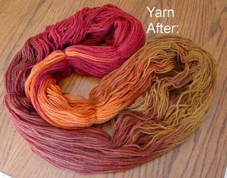 yarn after subduing the yellow